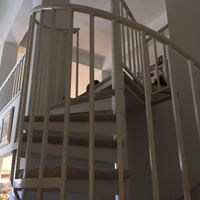 interior stair rail painting